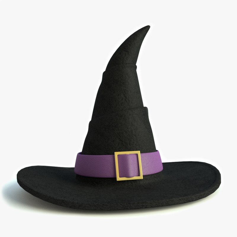3d witch hat