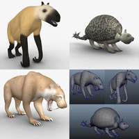 chalicotherium animals 3d ma