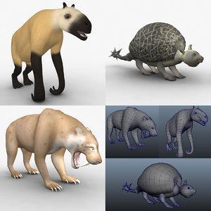 chalicotherium animals 3d ma