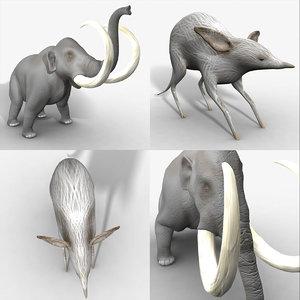 rigged animals 3d model