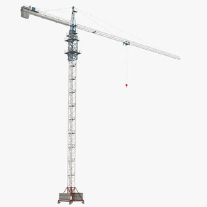 tower crane rigged 3d model