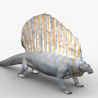 maya rigged edaphosaurus