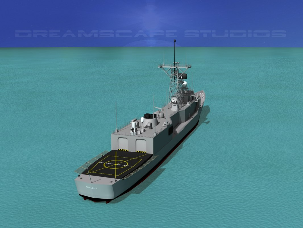 perry class frigate dxf
