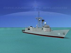 3d perry class frigate