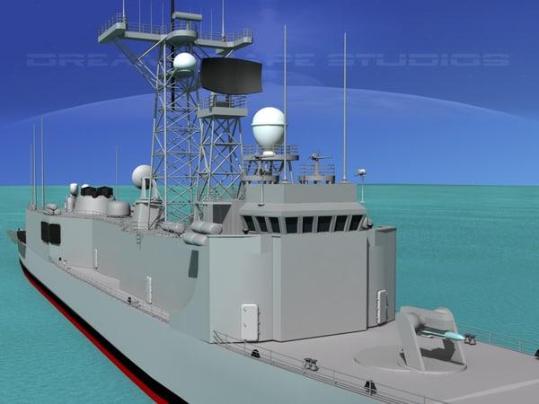 perry class frigate 3d 3ds