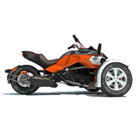 3d model can-am spyder f3 motorcycle