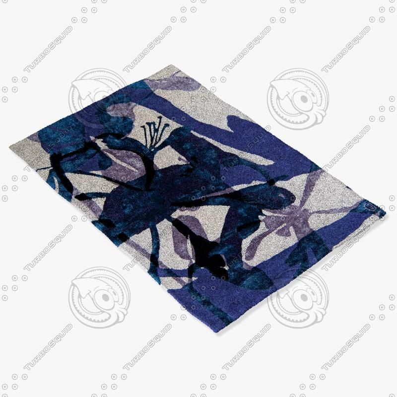 3d model roche bobois rug chevrefeuille