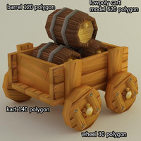 cart 3d model