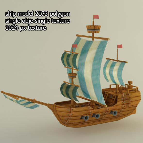 ship collada dae 3d model