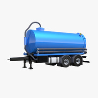 3d model vacuum trailer
