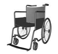 3d model wheelchair wheel chair