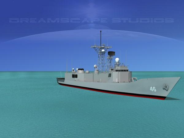 perry class frigate 3d max