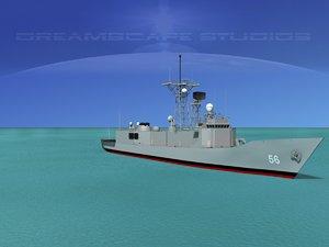 3d perry class frigate model