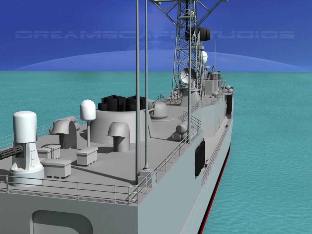 perry class frigates uss 3d 3ds