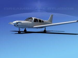 3d propeller piper warrior ii model