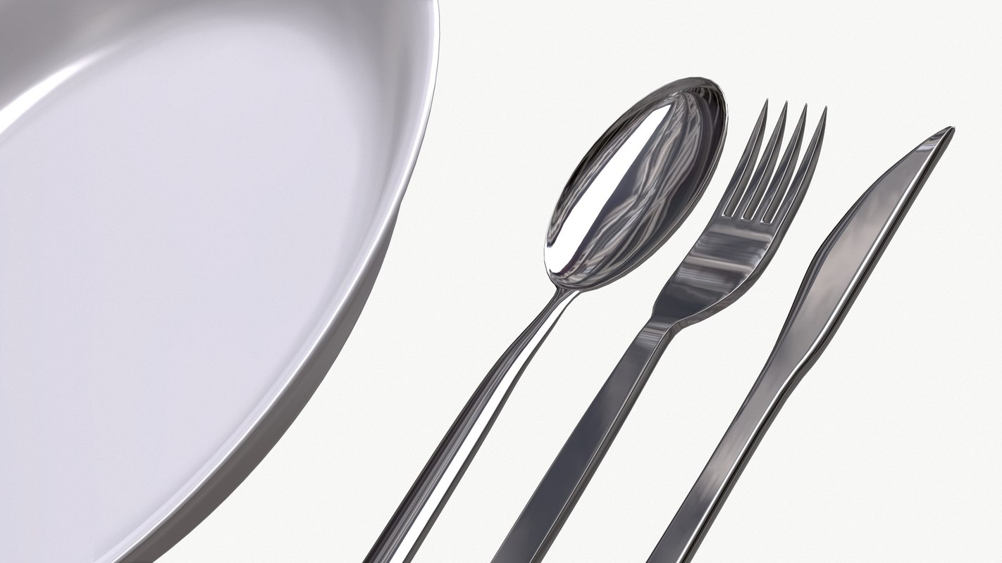 basic spoon fork 3d obj