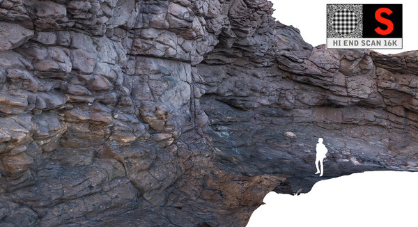 3d model cliffs ocean hd 16k
