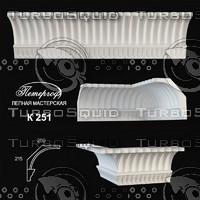 3d model cornice petergoff