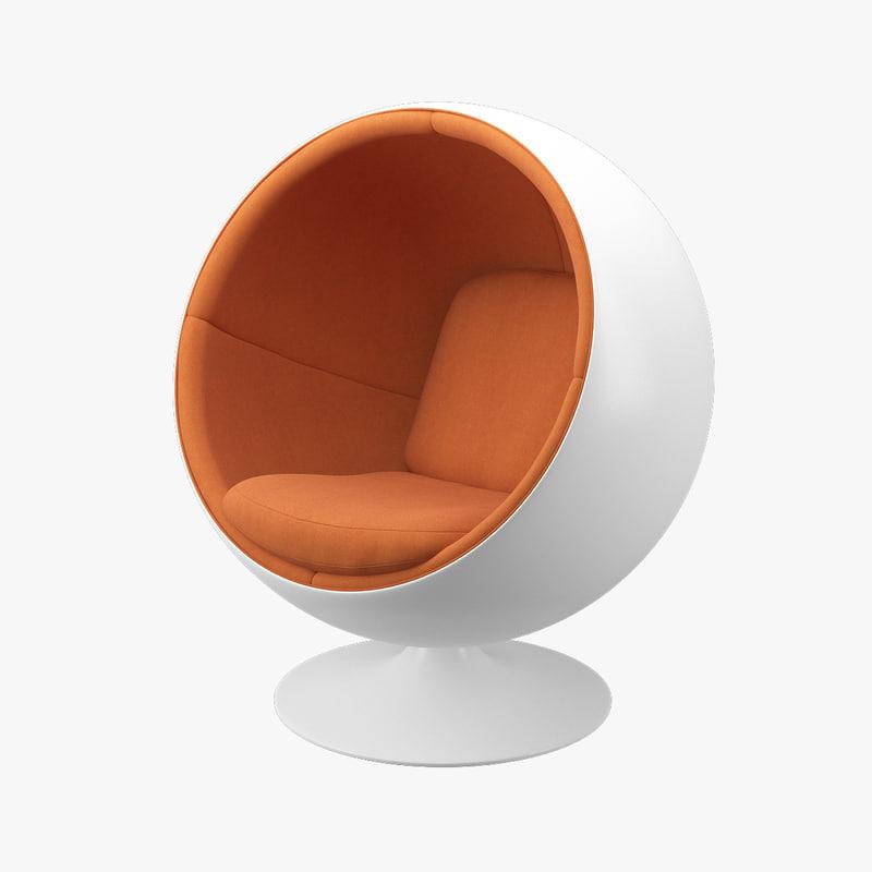ball chair furniture eero aarnio 3d max