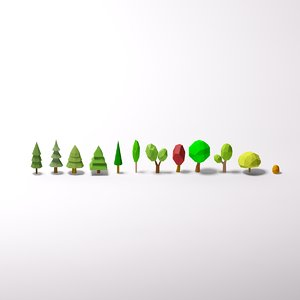 3d model of big trees pack