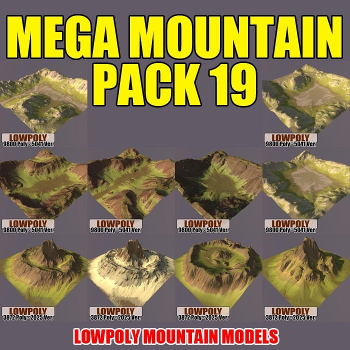 3d max mountains pack