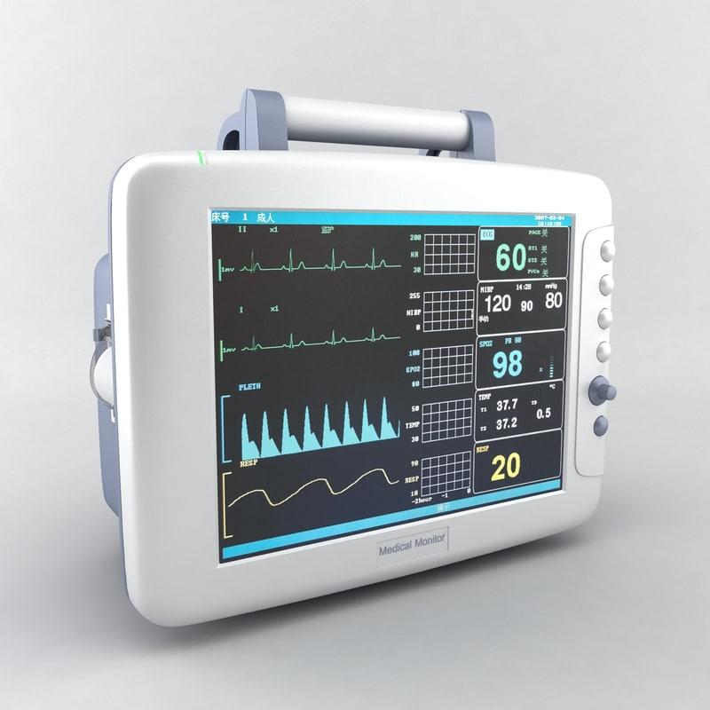3dsmax medical monitor