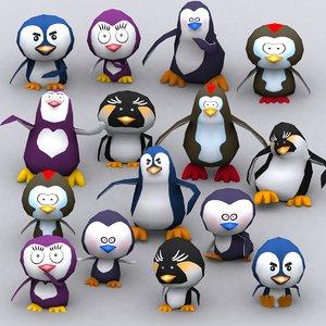 3d model eskimo vs penguins