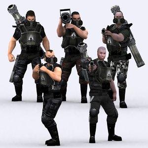 heavy troopers - 3d model