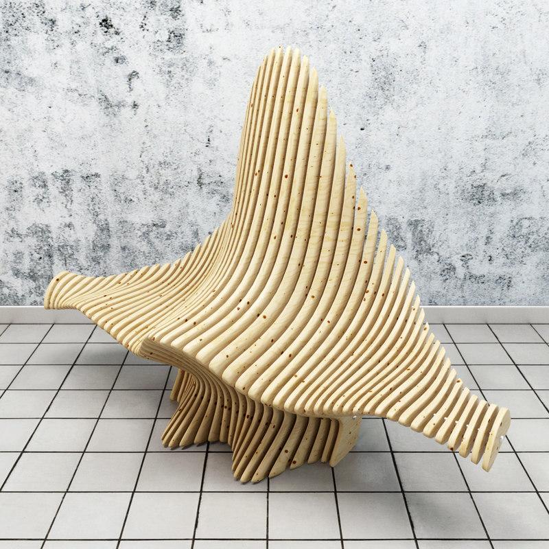 3d parametric chair model