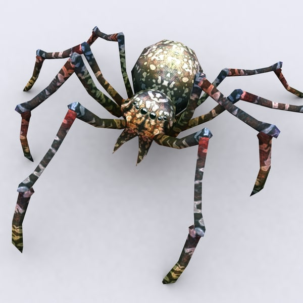 spiders pack 3d model