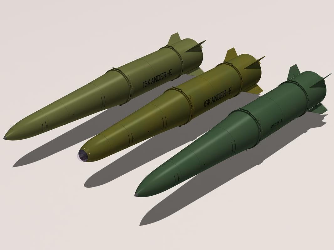 iskander family missile 3d model
