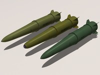 iskander family missile 3d model