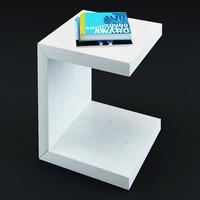 3d model table books esquire