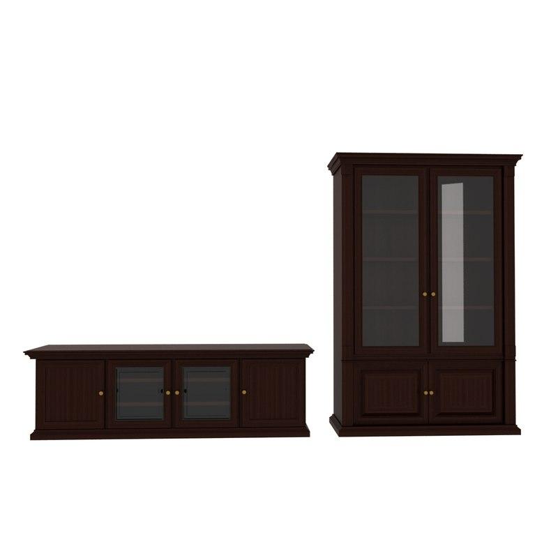 classic cupboard tumb 3d model