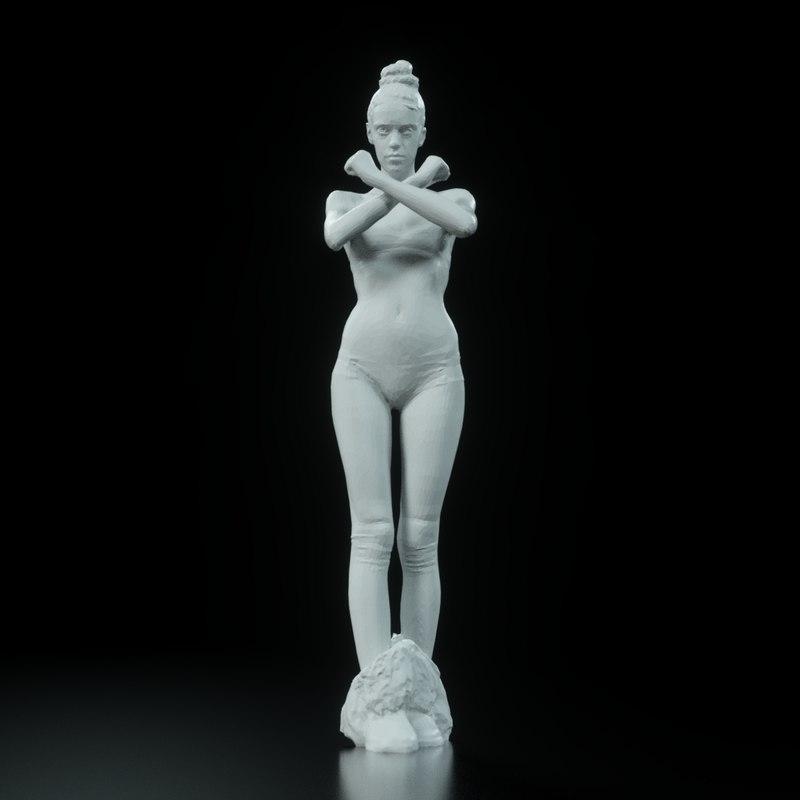 3d girl arch viz model