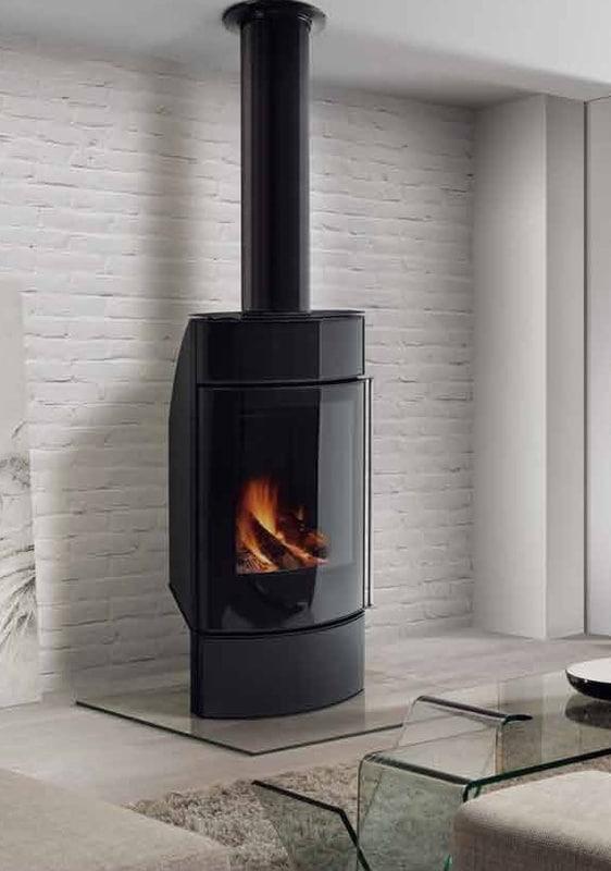 wall wood stove 3d model