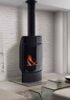 wall wood stove 3d model