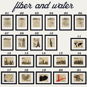 3d fiber water city maps