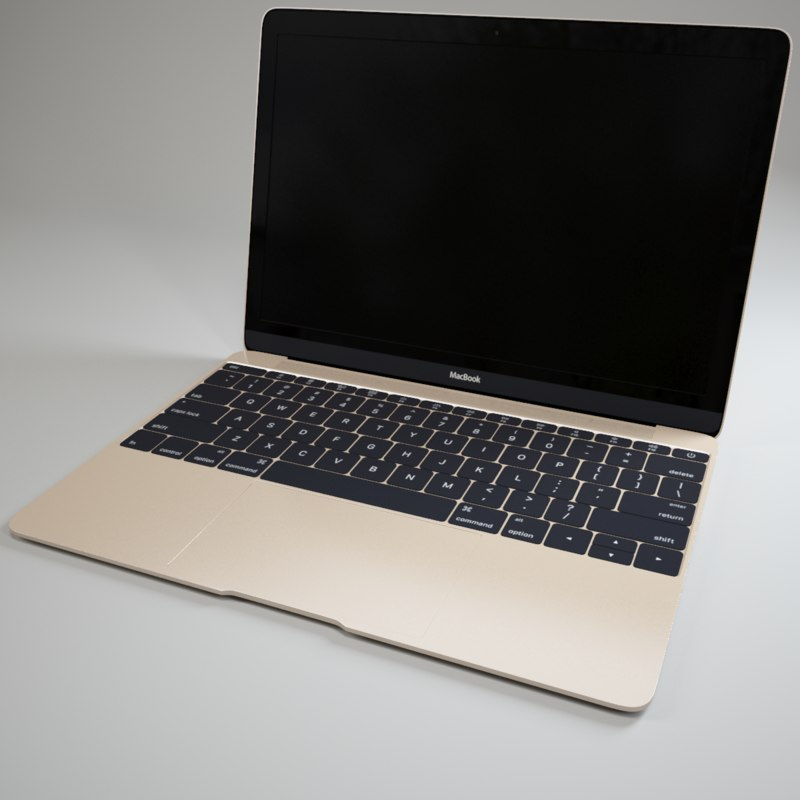 3d model of apple macbook 2015