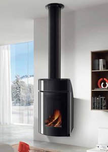 3d model wall wood stove