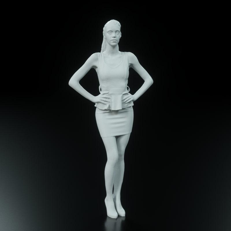 girl arch viz 3d obj