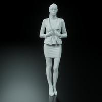 Girl Posing in Dress