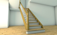 1900s German old style stairs