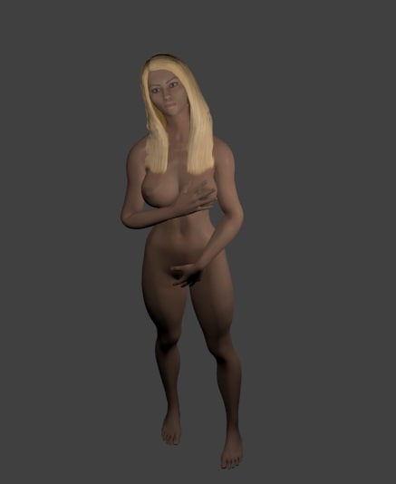 3d model rigged woman