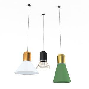 3d bell lights lamp model