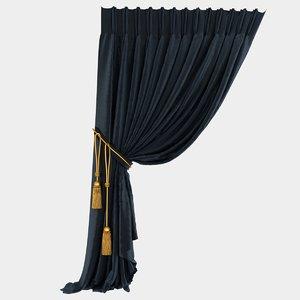 velvet stitched curtain max