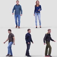 realistic casual humans 3d max