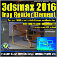 3ds max 2016 Iray Render Element Volume 1.0 cd front