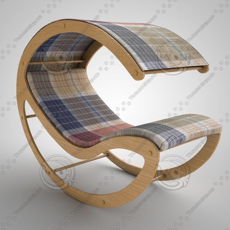 3d deck chair model