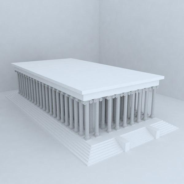 3d model apollon temple